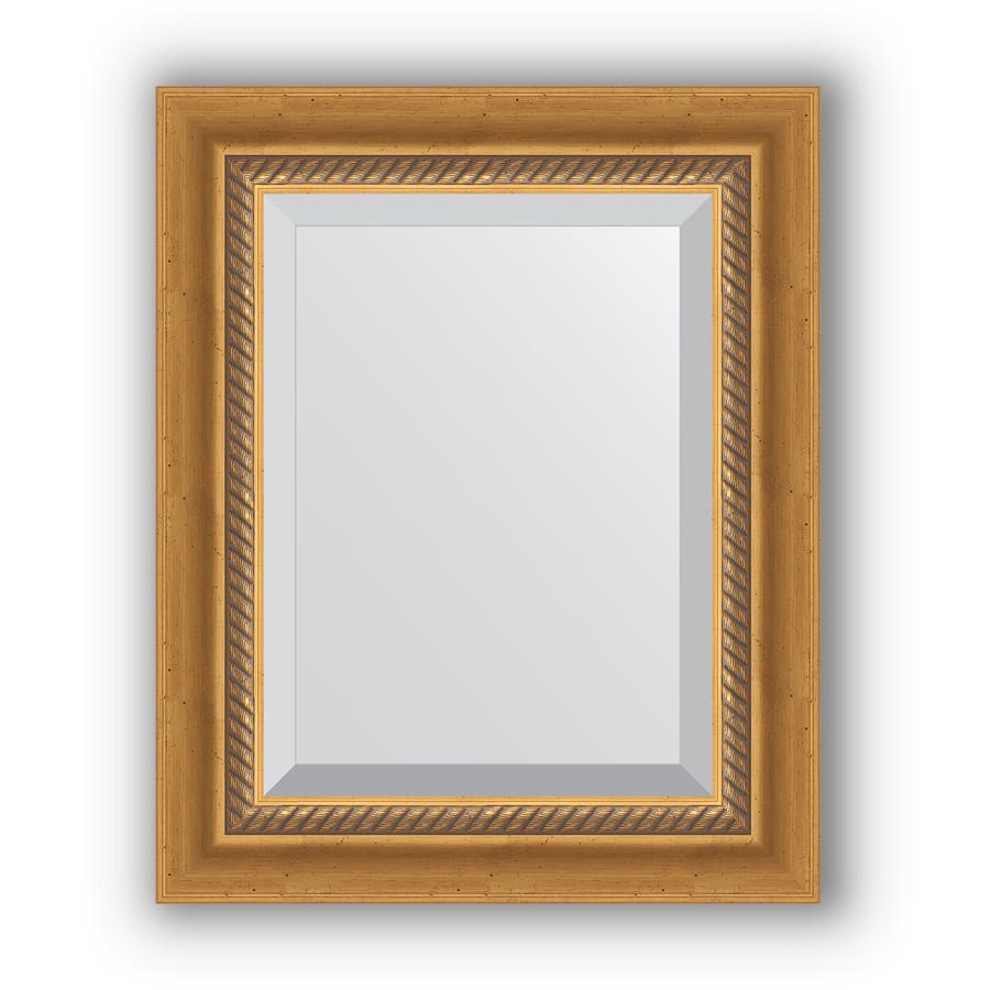 Зеркало 43х53 см состаренное золото с плетением Evoform Exclusive BY 3353