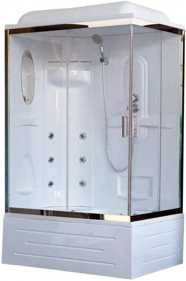 Душевая кабина 120х80х217 см Royal Bath RB8120BP2-T-CH-L прозрачное