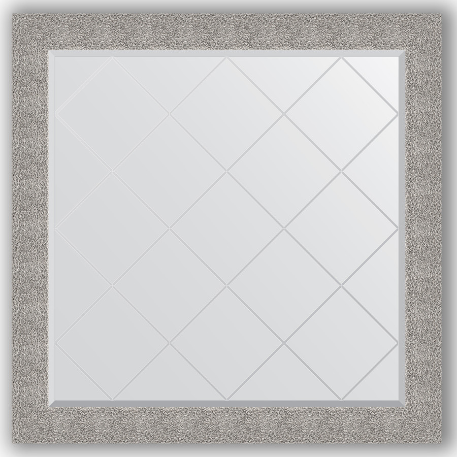 Зеркало 106х106 см чеканка серебряная Evoform Exclusive-G BY 4453