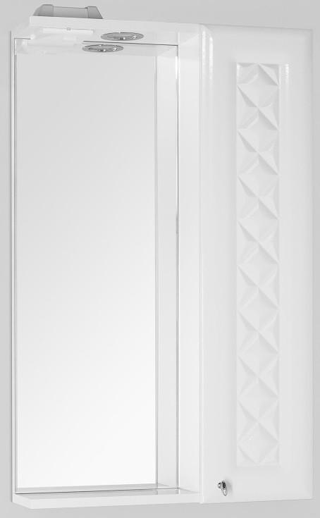 Фото - Зеркальный шкаф 50х86 см белый глянец Style Line Канна LC-00000293 зеркальный шкаф 50х83 см венге белый глянец style line панда стиль lc 00000086