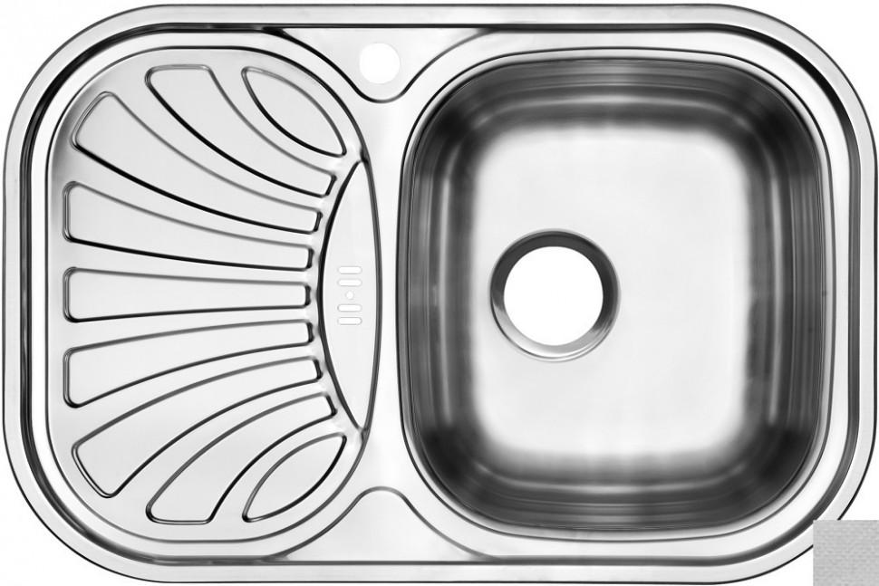 Кухонная мойка декоративная сталь Ukinox Галант GAL737.488 -GW8K 1R цена