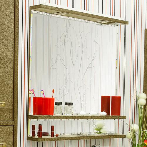 Фото - Зеркало 82х90 см венге золотая патина Sanflor Румба H0000000161 зеркало 117 1х88 4 см белый золотая патина sanflor каир h0000000208