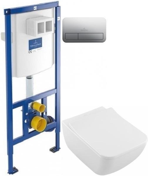 Фото - Комплект подвесной унитаз Villeroy & Boch Venticello 4611RSR1 + система инсталляции Villeroy & Boch 92246100 + 92249061 комплект подвесной унитаз toto sp cw532y tc512f система инсталляции villeroy