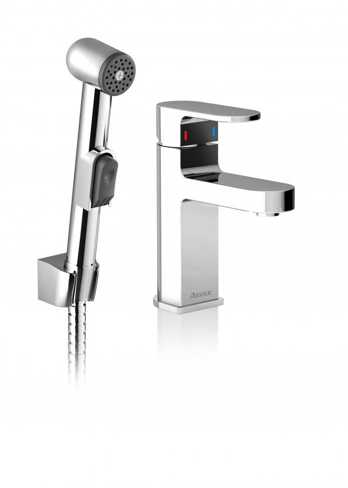 Смеситель для раковины с гигиеническим душем Ravak Chrome CR 112.00