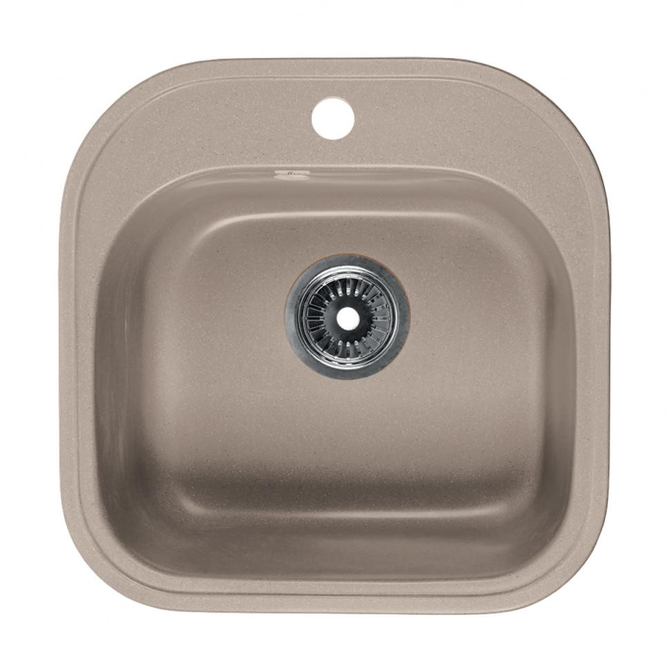 Кухонная мойка бежевый Rossinka RS48-49S-Beige-Granite кухонная мойка бежевый rossinka rs51r beige granite