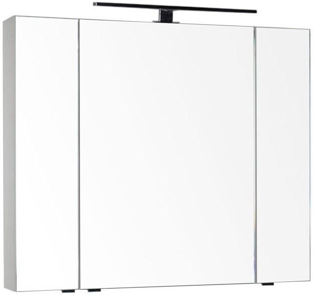 Зеркальный шкаф 100х85 см кремовый Aquanet Эвора 00184009