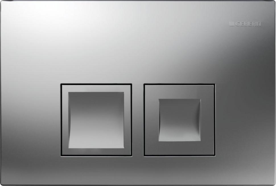 Смывная клавиша Geberit Delta50 матовый хром для двойного смыва 115.135.46.1 цена и фото