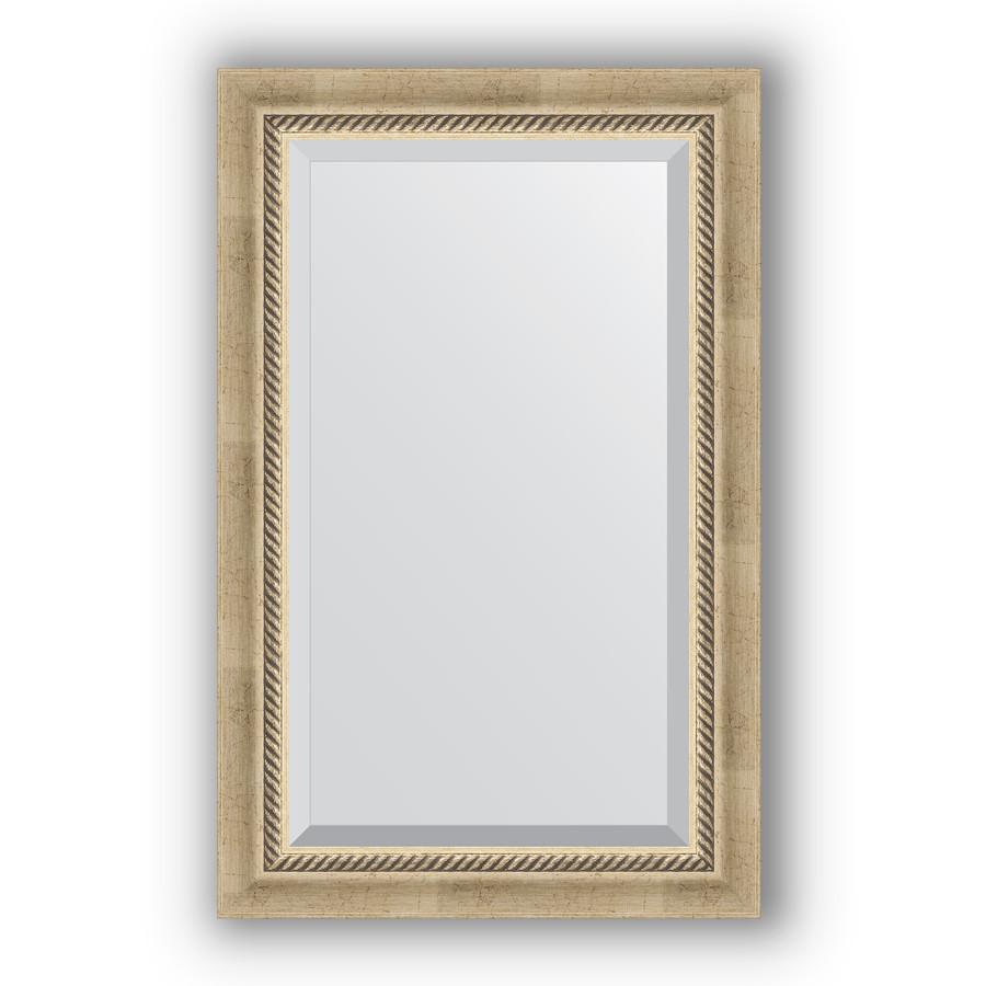 Зеркало 53х83см состаренное серебро с плетением Evoform Exclusive BY 1132 зеркало evoform exclusive 133х53 состаренное серебро с плетением