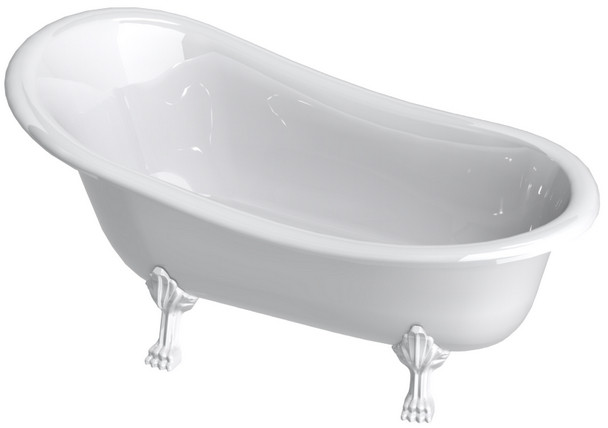 Ванна из литого мрамора белые ноги 170х79 см Astra-Form Роксбург 010119 ванна astra form роксбург белая