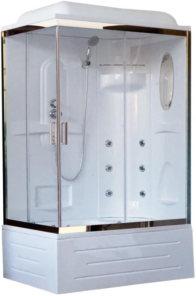 Душевая кабина 120х80х217 см Royal Bath RB8120BP2-T-CH-R прозрачное