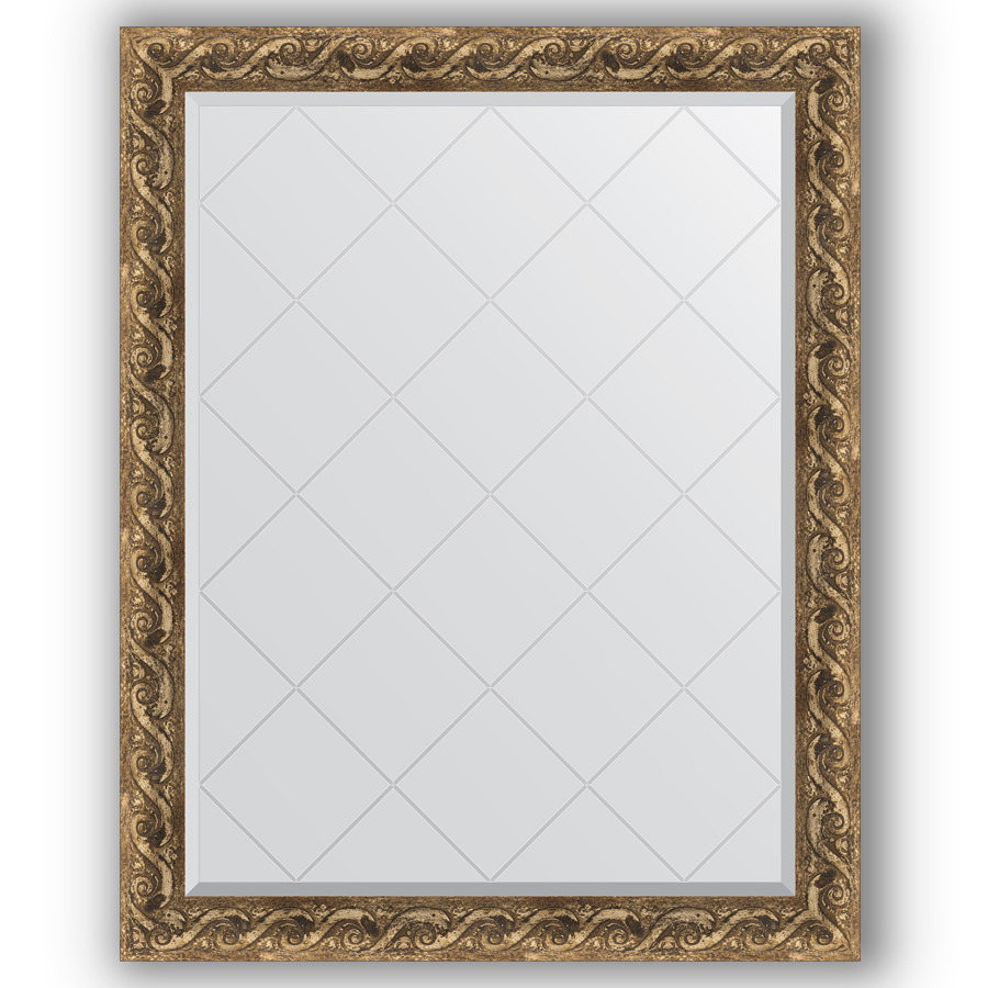 Зеркало 96х121 см фреска Evoform Exclusive-G BY 4356 зеркало evoform exclusive g 185х131 фреска