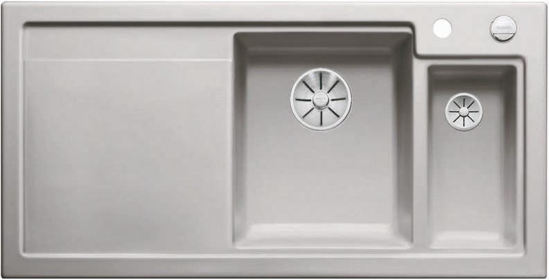 Кухонная мойка Blanco Axon II 6S InFino серый алюминий 524145 кухонная мойка blanco axon ii 6s infino матовый белый 524142
