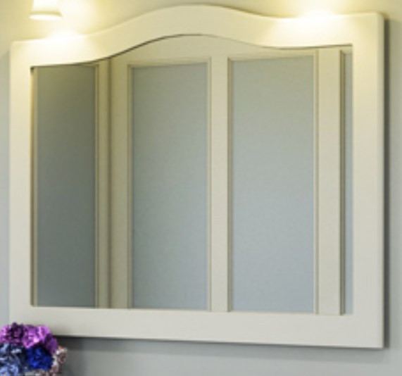 Зеркало 120х90 см белый глянец Comforty Монако 00003132225 зеркало comforty монако 120 белое