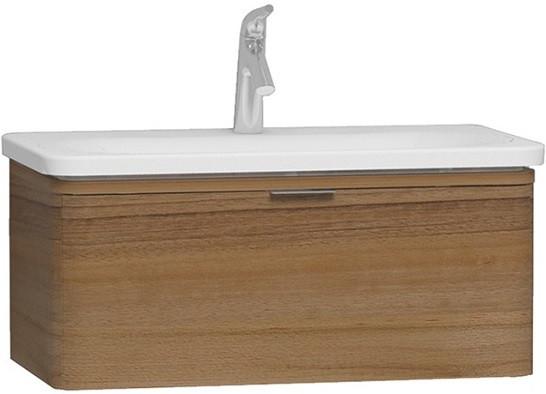 Тумба с раковиной натуральная древесина 79,5 см Vitra Nest Trendy 56138 тумба под раковину vitra nest trendy 80 с одним ящиком 56138