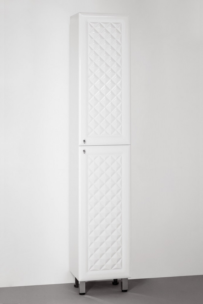 Фото - Пенал напольный белый глянец Style Line Канна LC-00000193 пенал напольный белый глянец с бельевой корзиной style line эко стандарт lc 00000249