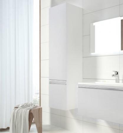 Боковой пенал белый глянец Ravak SB 400 L Clear X000000761 цена