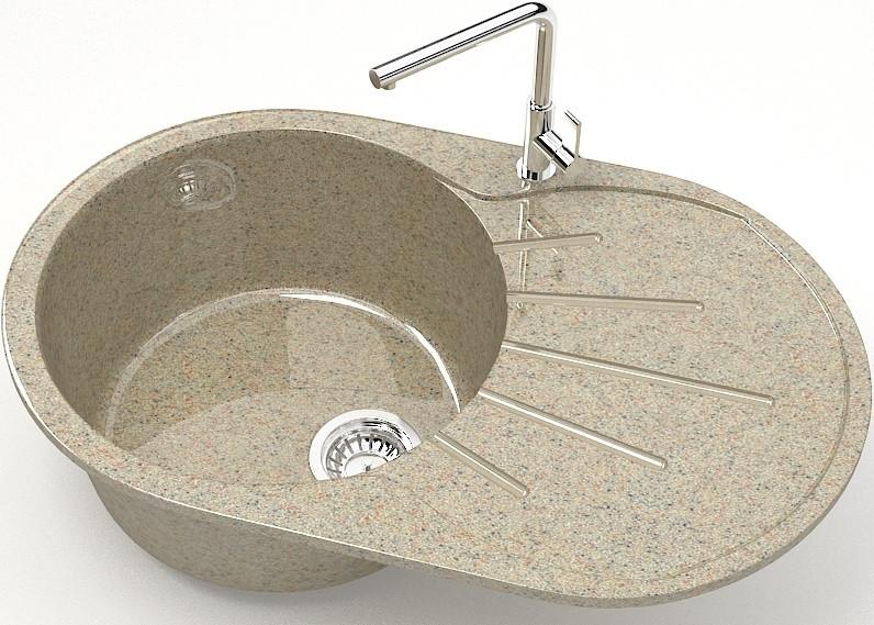 Кухонная мойка Marrbaxx Касандра Z110 песочный глянец Z110Q005 фото