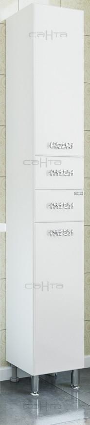 Пенал напольный белый глянец R Санта Ливерпуль 700256