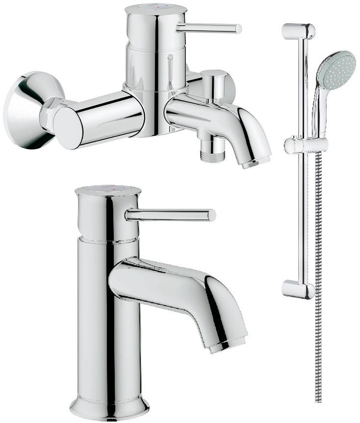 Комплект смесителей (3 в 1) Grohe BauClassic 124404 комплект смесителей grohe bauclassic 32865000 23162000