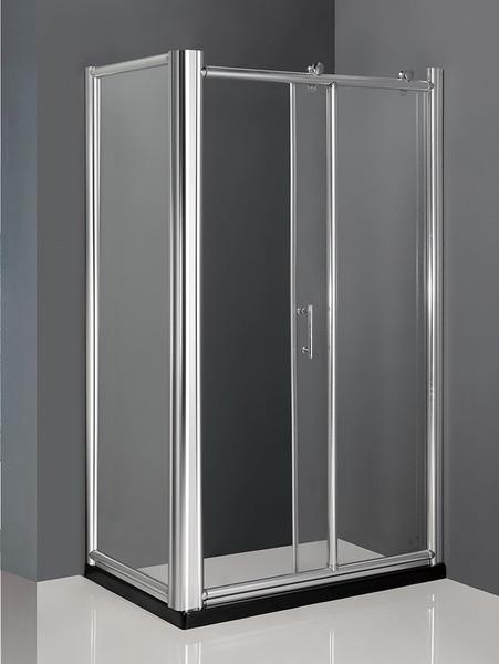 Душевой уголок с поддоном 120×80×215 см прозрачное стекло AMMARI LUXE AM-B-5R-PLUS