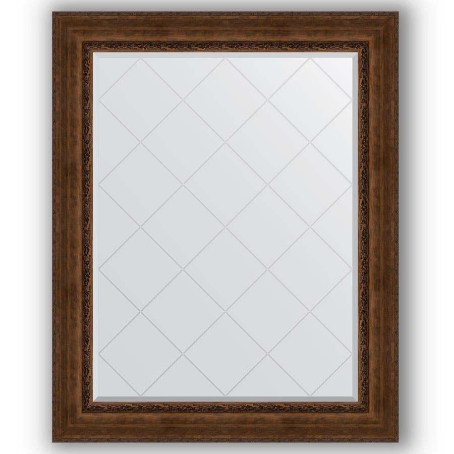 Зеркало 102х127 см состаренная бронза с орнаментом Evoform Exclusive-G BY 4386