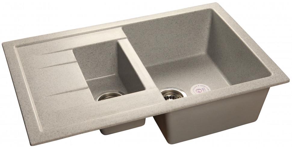 Кухонная мойка серый GranFest Quadro GF-Q775KL кухонная мойка серый granfest quadro gf q560
