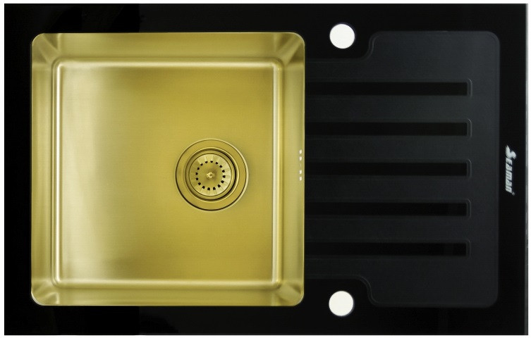 Кухонная мойка Seaman Eco Glass SMG-780B-Gold.B