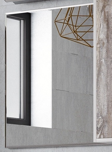 Зеркало 40х65 см белый глянец Corozo Гольф SD-00000266