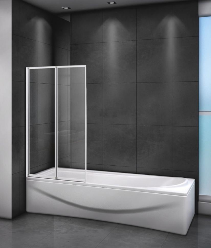 Шторка для ванны 80 см Cezares RELAX-V-2-80/140-C-Bi прозрачное недорого