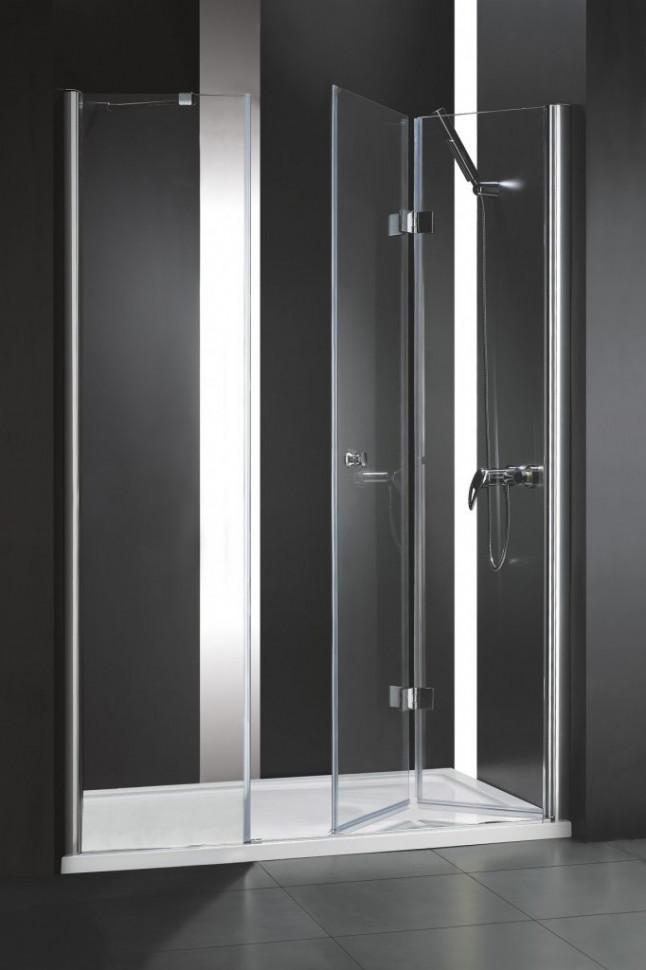 Душевая дверь складная Cezares Elena 140 см текстурное стекло ELENA-W-BS-13-40+50/50-P-Cr-R