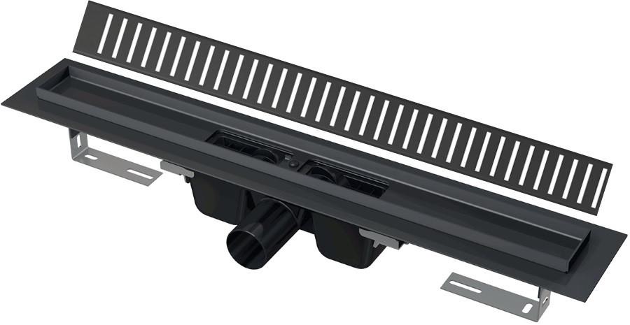 Душевой канал 1444 мм черный матовый AlcaPlast APZ1BLACK-1450 + PURE-1450BLACK