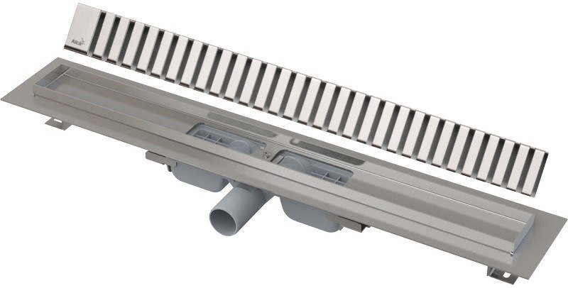 Душевой канал 1144 мм глянцевый хром AlcaPlast APZ101 Line APZ101-1150 + LINE-1150L