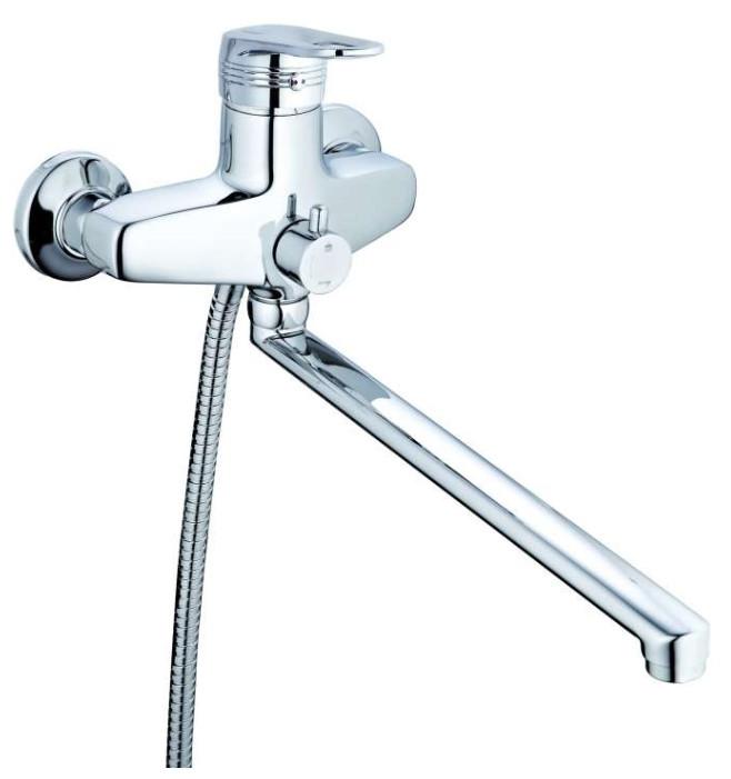 G.Lauf NVL-6169 Смеситель для ванны с душем смеситель для ванны nvl 6169 однорычажный хром g lauf джилауф