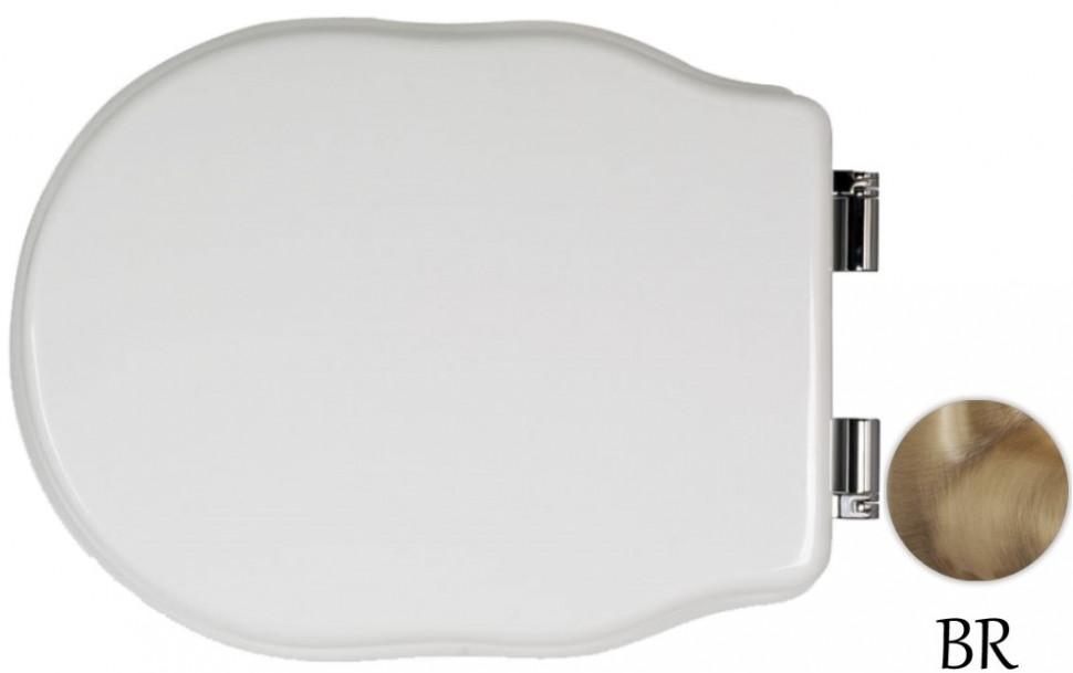 Сиденье для напольного унитаза белый/бронза Tiffany World Bristol TWBR21bi/br