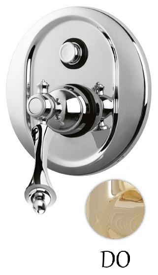 Встраиваемый смеситель для ванны золото 24 карат, ручка золото 24 карат Cezares Margot MARGOT-VDIM-03/24-M