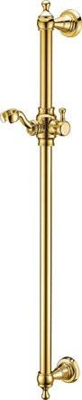 Душевая штанга золото, ручка золото Cezares CZR-SDC1-03