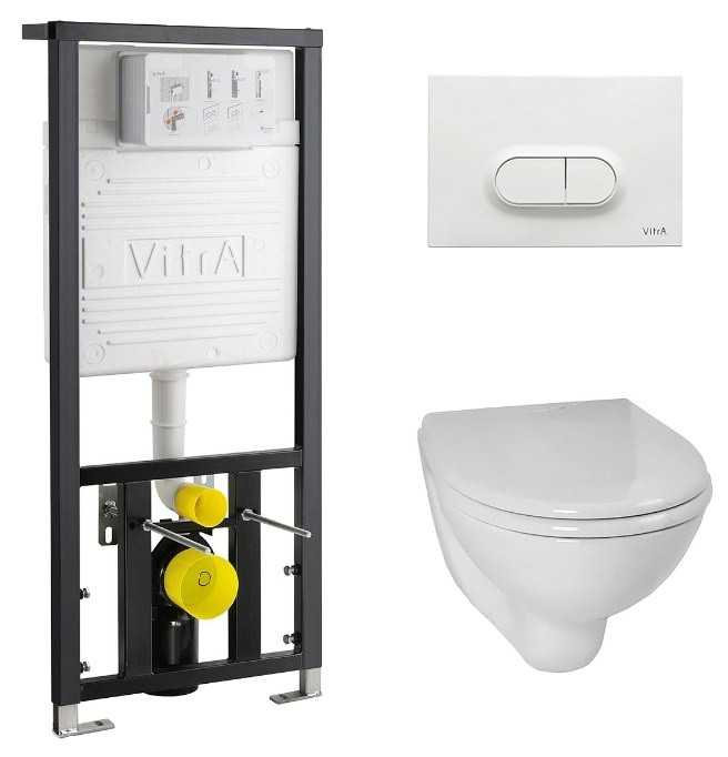 Комплект Vitra Normus 9773B003-7201 комплект vitra normus унитаз с сиденьем инсталляция кнопка белая 9773b003 7201