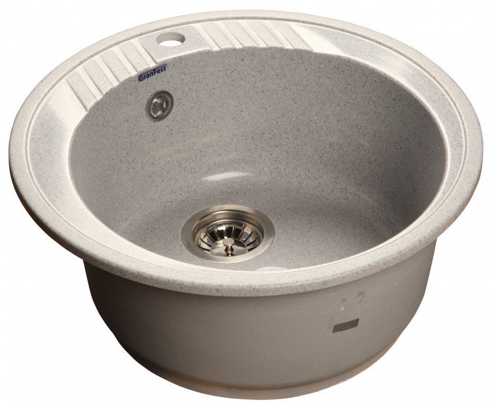 Кухонная мойка серый GranFest Rondo GF-R520 кухонная мойка granfest rondo gf r 520 d 520мм красный марс