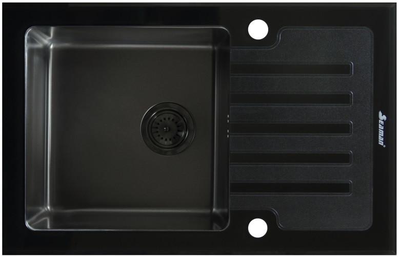 Кухонная мойка Seaman Eco Glass SMG-780B-Gun.B