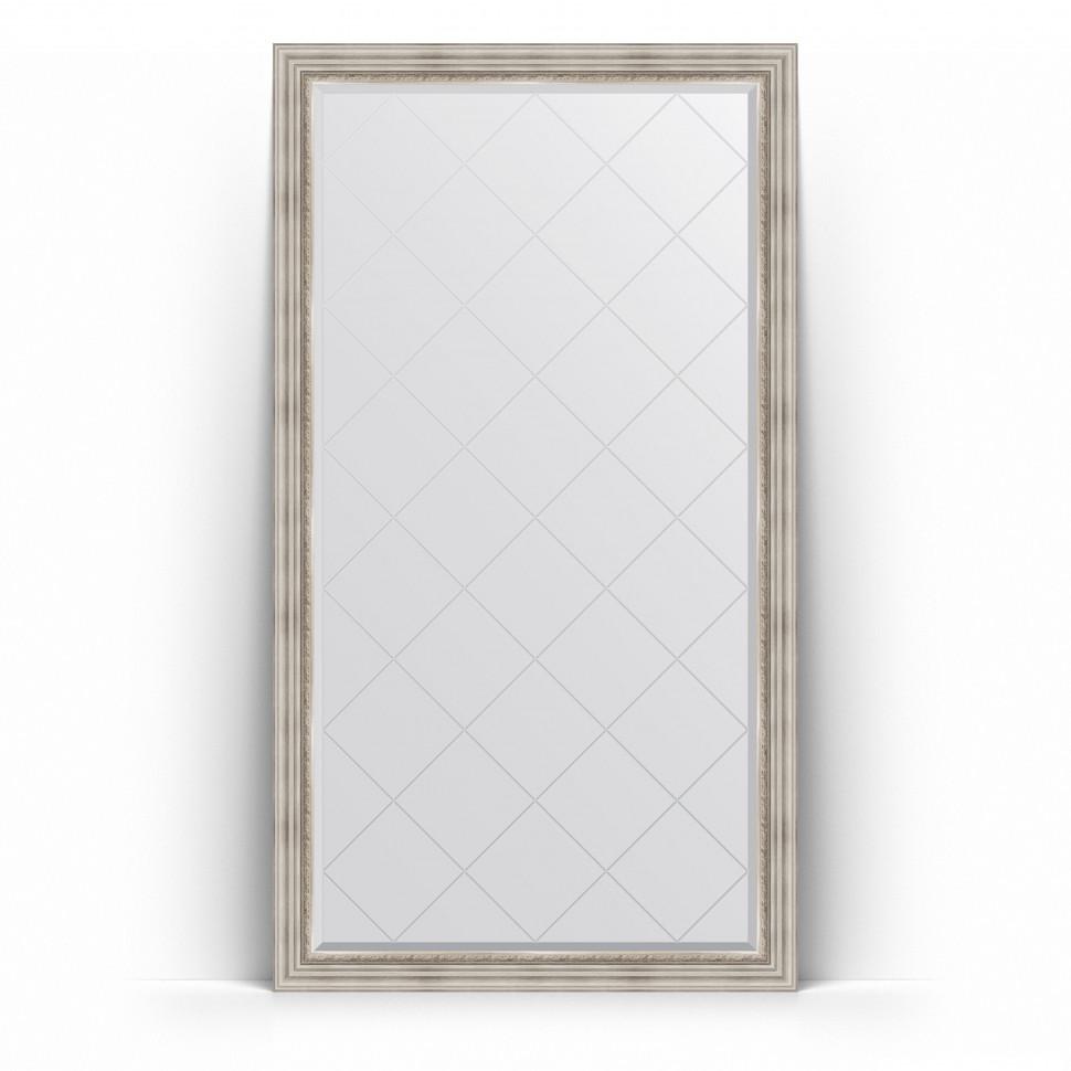 Фото - Зеркало напольное 111х201 см римское серебро Evoform Exclusive-G Floor BY 6358 зеркало напольное 111х201 см чеканка золотая evoform definite floor by 6020
