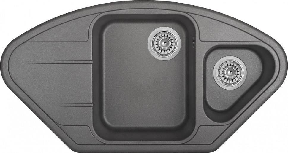 Кухонная мойка оникс Longran Lotus LTG960.510 15 - 10 мойка longran ultra uls615 500 15 10 оникс