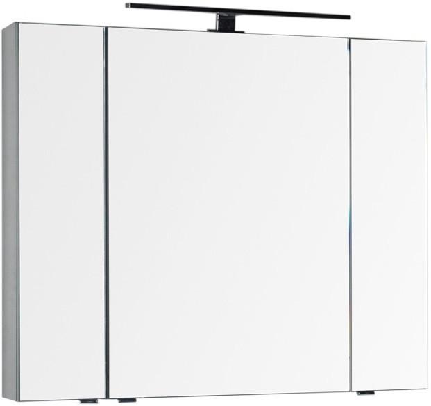 Зеркальный шкаф 100х85 см серый антрацит Aquanet Эвора 00184027