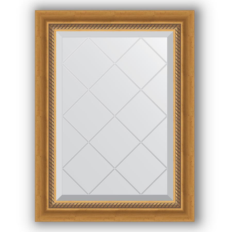 Зеркало 53х71 см состаренное золото с плетением Evoform Exclusive-G BY 4002