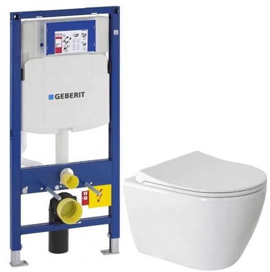 Комплект подвесной унитаз Berges Geo 082101 + система инсталляции Geberit 111.300.00.5 подвесной унитаз berges geo 082101