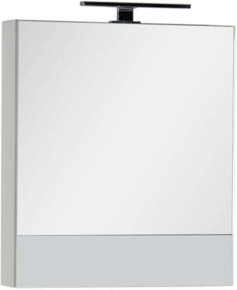 Зеркальный шкаф 58х67 см белый Aquanet Верона 00175344 зеркальный шкаф 65х88 1 см белый aquanet стайл 00179922