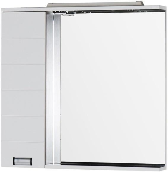 Зеркальный шкаф 88,6х87 см с подсветкой белый/венге Aquanet Сити 00158575 зеркальный шкаф 90х87 см с подсветкой венге aquanet донна 00169179