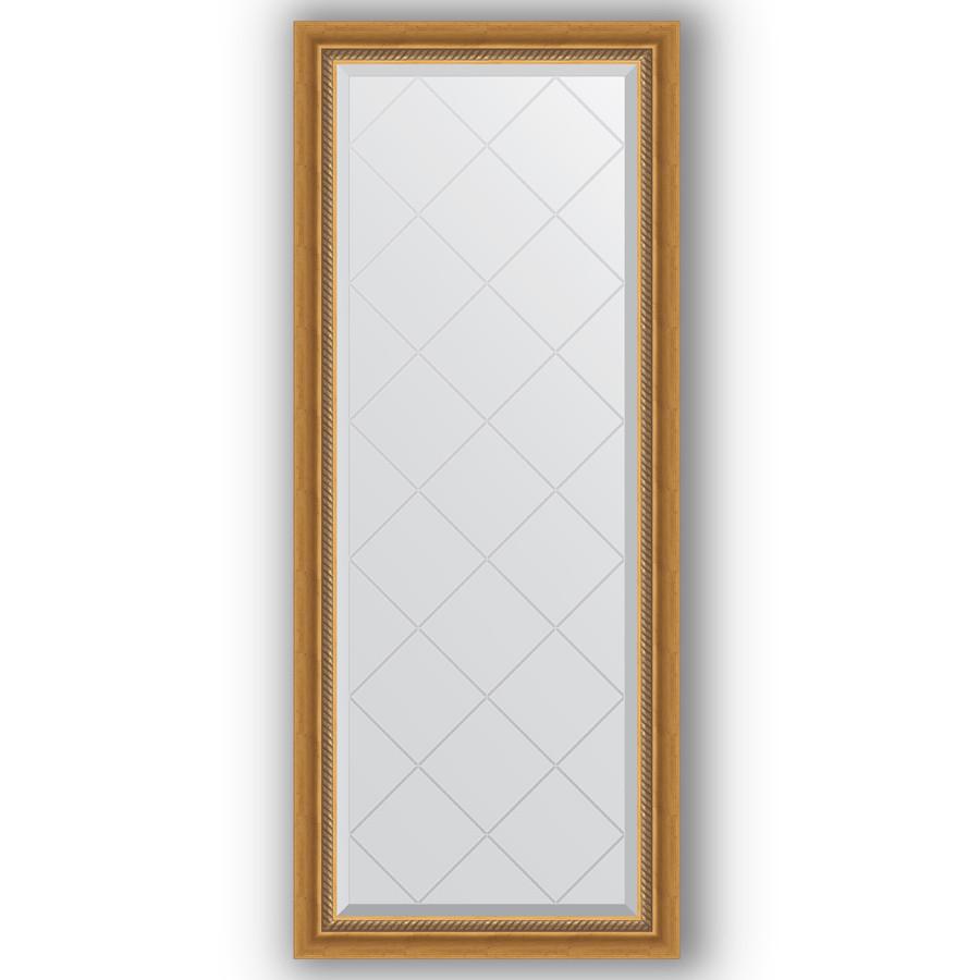 Зеркало 63х153 см состаренное золото с плетением Evoform Exclusive-G BY 4131