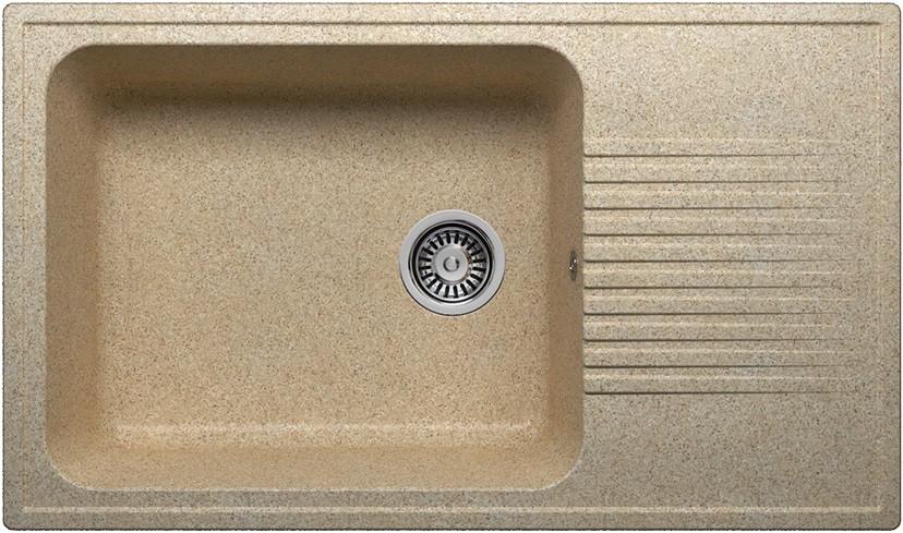 Кухонная мойка Polygran песочный F-19 №302 кухонная мойка polygran f 05 302 45 песочная