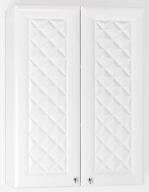 Шкаф двустворчатый подвесной белый глянец Style Line Канна LC-00000344