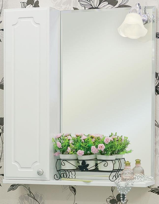Зеркальный шкаф 60х72,8 см белый глянец L Sanflor Ксения H0000000116